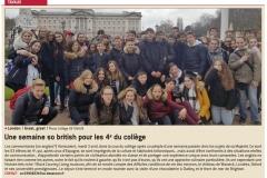 Une semaine So British pour les élèves de 4ème