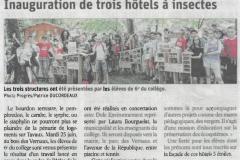 Inauguration de 3 hôtels à insectes