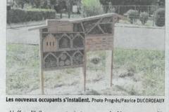 Quatre hôtels à insectes implantés en ville